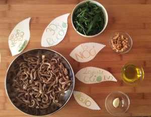 Supplea Vegan Bio - strozzapreti con pesto di rucola e noci_ingredienti