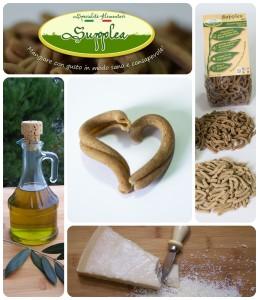 Supplea Bio - strozzapreti con olio EVO e Parmigiano Reggiano - Ingredienti