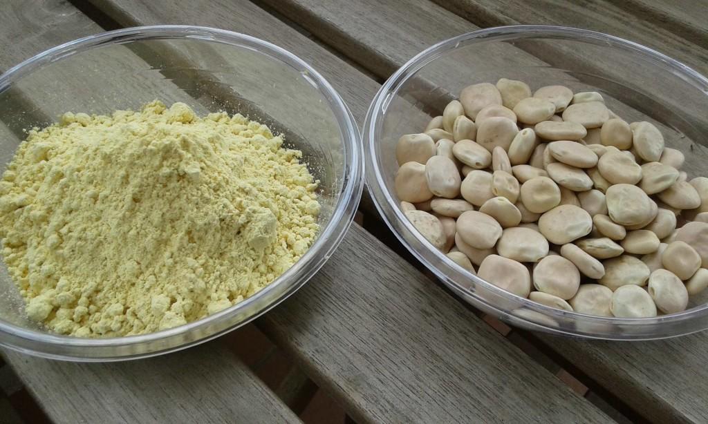 Farina e semi di lupino