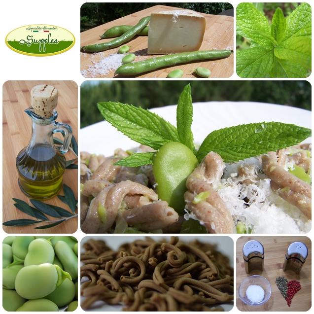 Ricetta Supplea Bio - strozzapreti con fave e pecorino_1